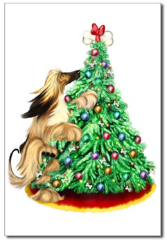 afghan hound christmas tree