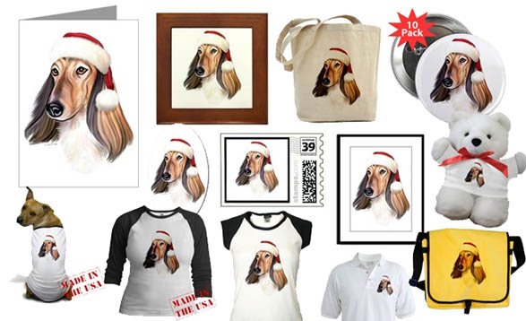 Afghan Hounds Christmas Cards and Decor