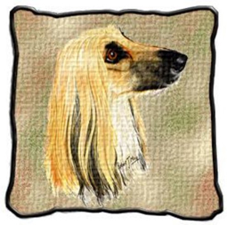 Afghan Hound Tapestry Pillow