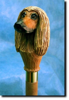 Afghan Hound Walking Stick