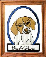 Beagle Stained Glass