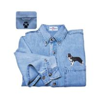 Border Collie Denim Shirt