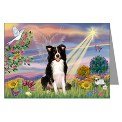 Border Collie Cloud Angel Cards