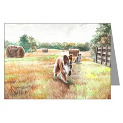 Border Collie Art Cards
