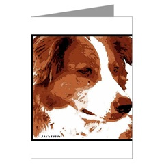 Red Border Collie Art Cards