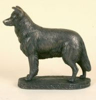 Border Collie Bronze Sculpture