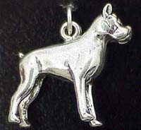 boxer dogs silver jewelry