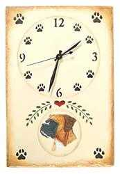 boxer dogs Clock