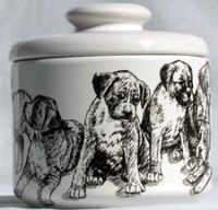 Boxer Puppies Cookie Jar