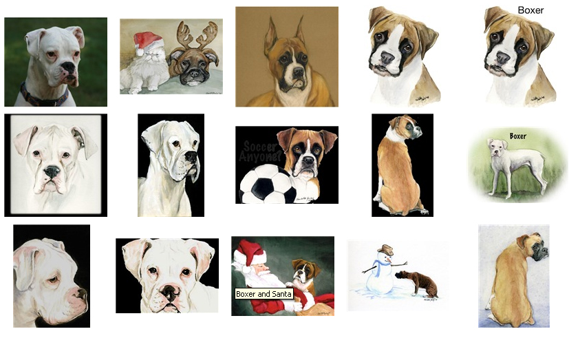 Boxer Christmas Cards and Decor