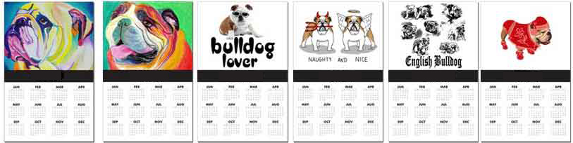 English Bulldogs Calendars