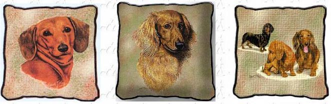 Dachshund Tapestry Pillows