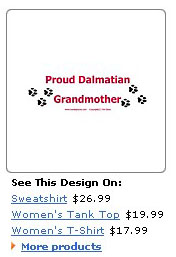 proud dalmatian grandmother