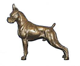 boxer dog sculpture
