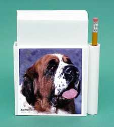 saint bernard hold a note