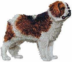 St Bernard Clothing Applique