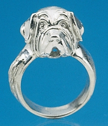 St. Bernard Sterling Silver Ring