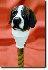 Saint Bernard Walking Stick