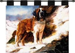 Saint Bernard Wall Hanging - Throw Blanket