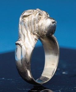 Shar-Pei Sterling Silver Ring