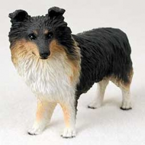Sheltie Red Blk Wht Figurine