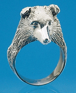 Sheltie Sterling Silver Ring